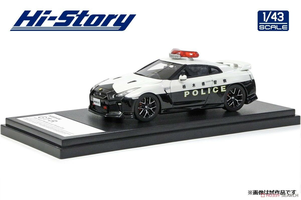 1 43 HI STORY HS220R NISSAN R35 GTR POLICE ATSUGI PREFECTURE resin model car
