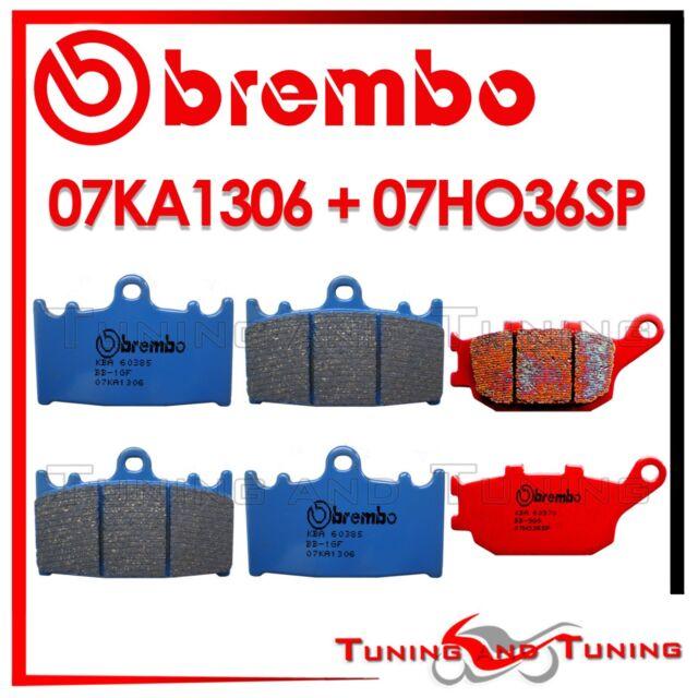 PASTILLAS BREMBO DELANTERO CC + TRASERO SP SUZUKI GSX FA 1250 2010 2011 2012 12