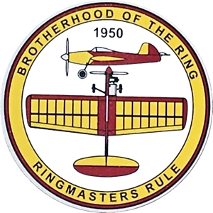 RING MASTERS RULE STICKERS x 6 -- BROTHERHOOD OF THE RING - CONTROL LINE PLANE