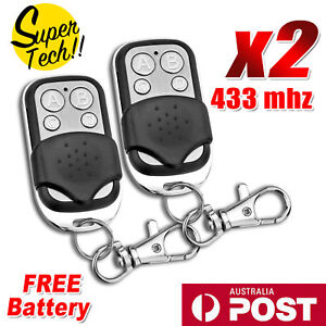 2x Universal Replacement Garage Door Gate Car Cloning Remote Control