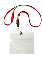 """2 Pack Of Fishing License Id Holder 32"""" Lanyard Quick Release Clip Hunting"""