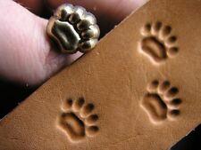 011-03 Teddy Bear track paw Leather Saddlery Tool Punch 3D Brass Custom stamp