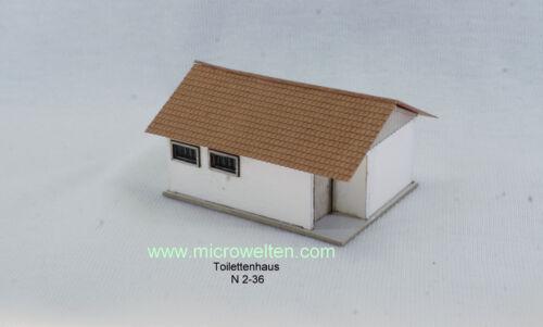 Lasercut Bausatz Toilettenhäuschen Spur N