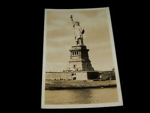 Vintage-Postcard-NEW-YORK-CITY-NY-RPPC-The-Statue-Of-Liberty-From-Harbor