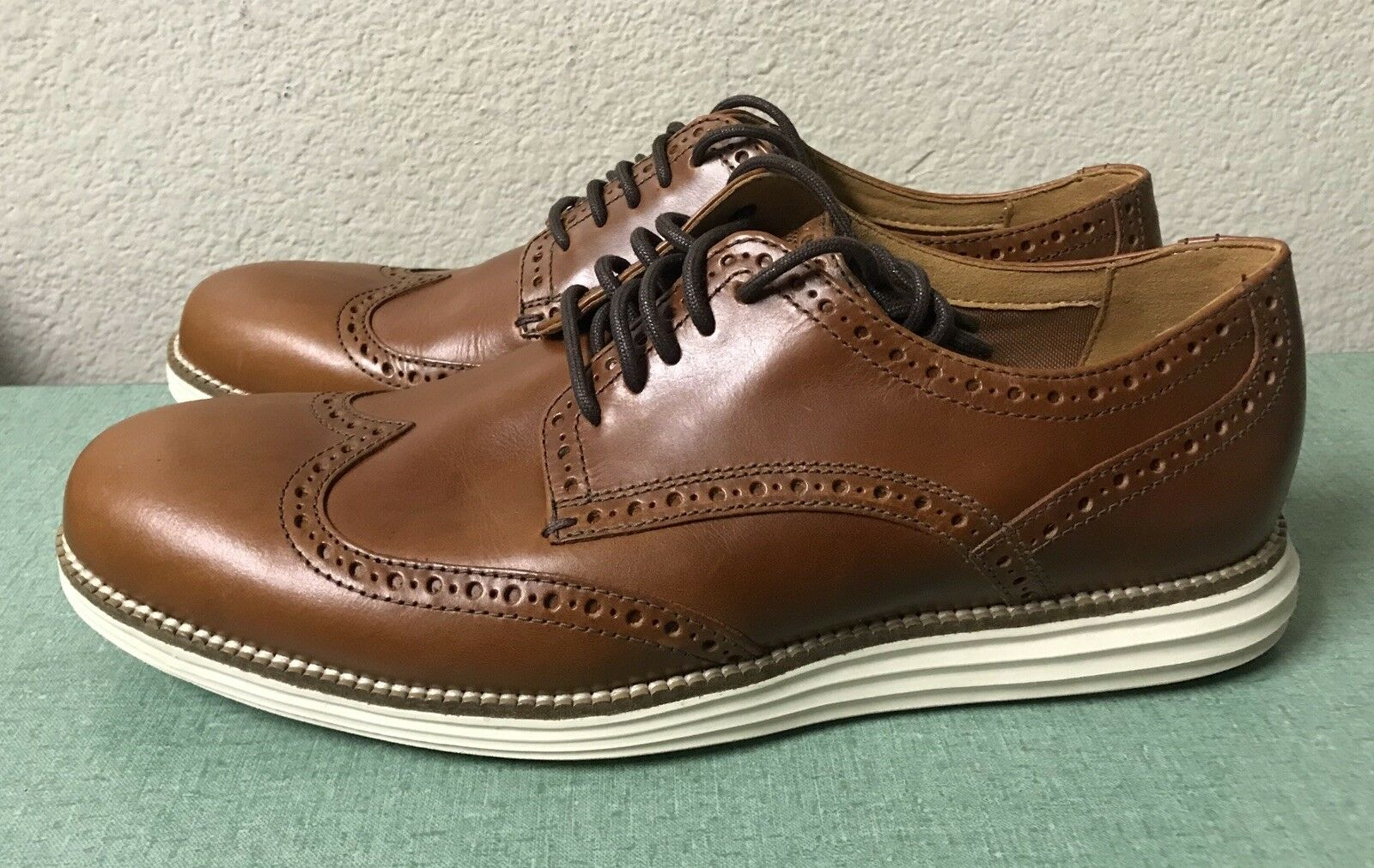 Cole Haan Grand Original Bout D'Aile Oxford Marron Homme Sz 9.5 C22793 NEUF