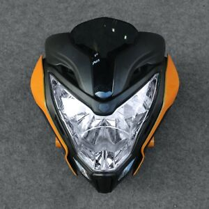 Details about Motorcycle HeadLight Assembly Headlamp+Fairing Part Fit for  Bajaj Pulsar 150 200