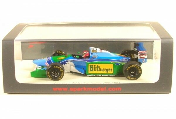 Benetton b194 No. 6 Australian gp formula 1 1994 (Johnny Herbert)