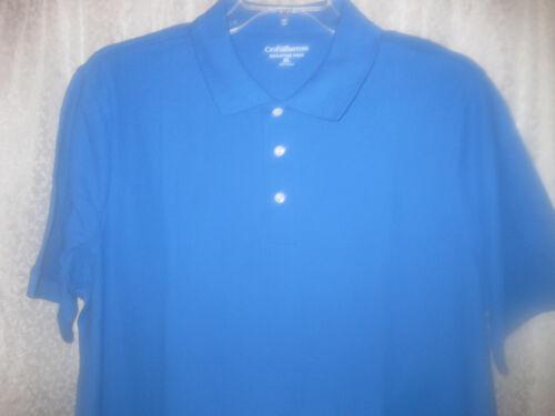 Croft /& Barrow Signature Polo Homme Bleu Roi Chemise Neuf Taille XL à manches courtes