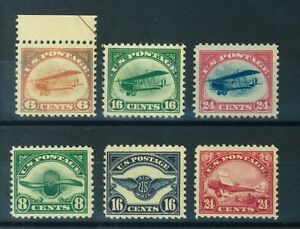 Image Is Loading US Air Mail Stamps 1918 23 Complete VLH