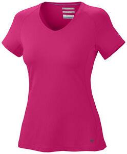 New Total Top Columbia T Freeze Omni Zero Shirt Neck V Womens U6Ufxr