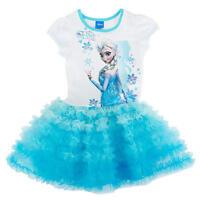 Frozen Disney Elsa Anna Tutu Dress Disney blue age 3 4 5 6 7 8  years UK STOCK