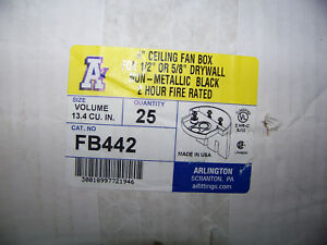 Arlington 4 Ceiling Fan Box For 1 2