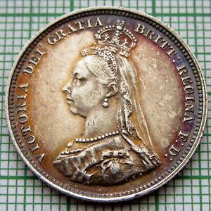 GREAT-BRITAIN-QUEEN-VICTORIA-1887-JUBILEE-SHILLING-SILVER-HIGH-GRADE-TONED