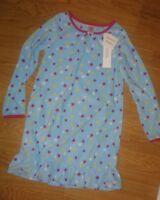 Gymboree Girls Fleece Nightgown Stars Blue Size 10-12 Long Sleeve
