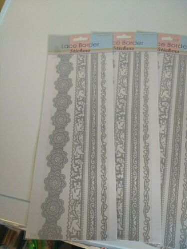 5X LACE BORDERS STICKERS 30X12 CM NEW