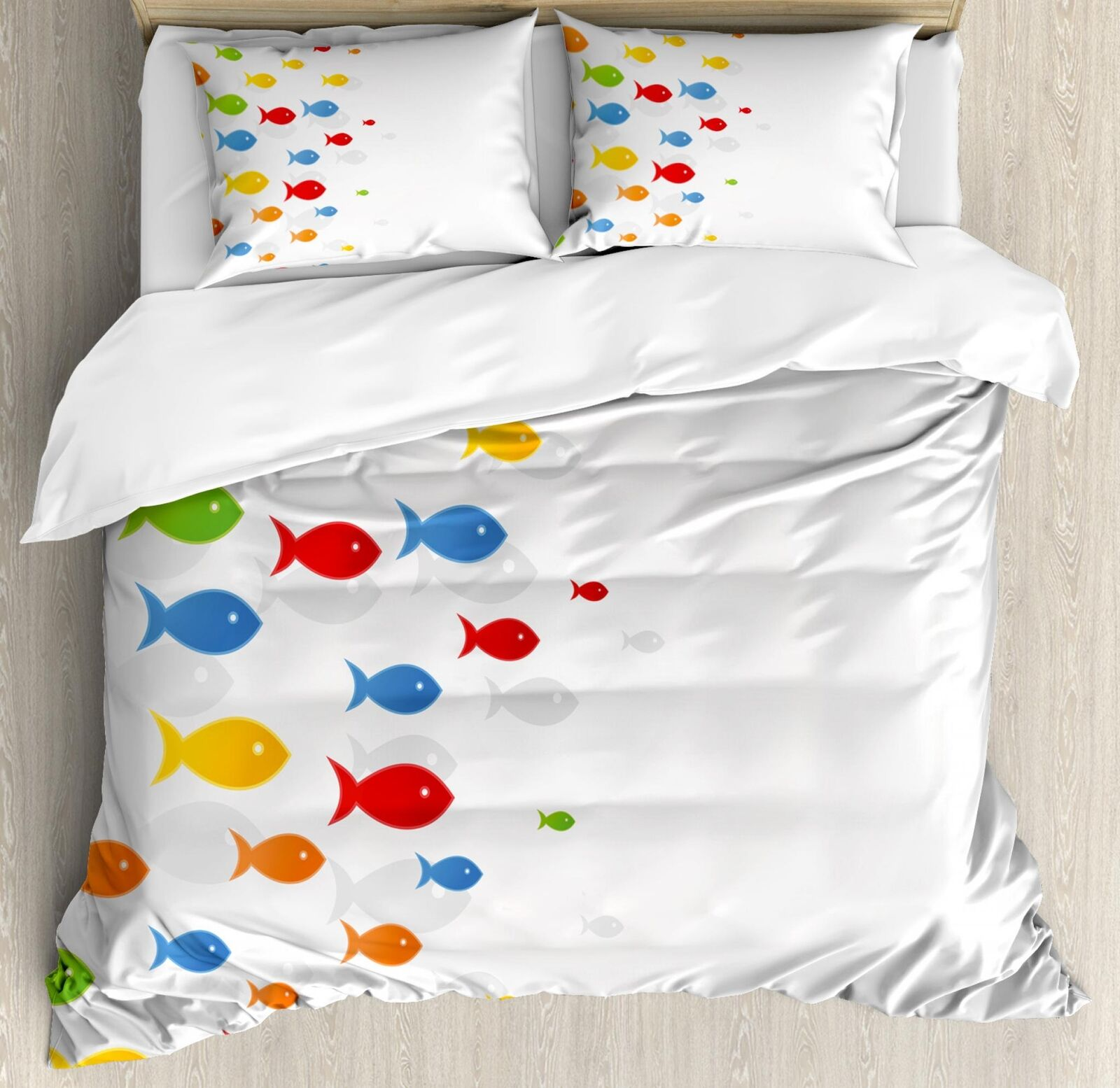 Ocean Fauna Duvet Cover Set Twin Queen King Sizes with Pillow Shams