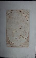 Kostia TERECHKOVITCH - Gravure pointe-sèche etching femme .