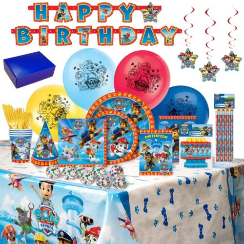Paw Patrol Party Birthday Supplies and Decorations 143 Piece for 8 FREE SHIPPING