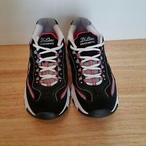 ganado En detalle Adelante  Skechers D Lites Womens 11860 Black Pink Size 8.5 WORN 1 TIME! | eBay