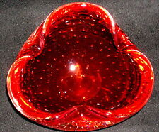 Murano Glas Schale mit Luftblasen 60er / 70er Jahre