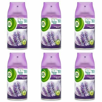 6 x AIR WICK FRESHMATIC AUTOMATIC SPRAY REFILLS 250ml EACH - LAVENDER SCENT
