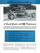 Equipment Data Sheet Gledhill 7 A Road Grader Brochure C1950s E5376