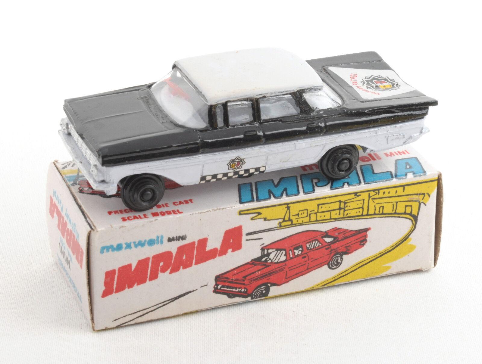 Maxwell Juguetes (India) No.559 Maxwell patrulla carretera Mini Impala 1970s   MIB
