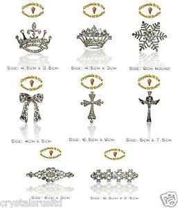 SKULL-CROWN-vintage-BROOCH-BROACH-PIN-CRYSTAL-bling-WEDDING-BRIDAL-OCCASION