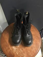 Doc Martens-1919-Black Smooth Leather-Steel Toe-10 eye-US11 Free Ship