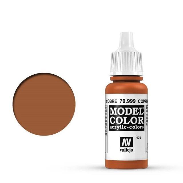 Vallejo 70999 Model Colour #176 Metallic Copper 17 ml Acrylic Paint  - Brand New
