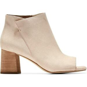 Cole Haan Womens Nitasha Leather Ankle Block Heal Chelsea Boots Shoes BHFO 4647