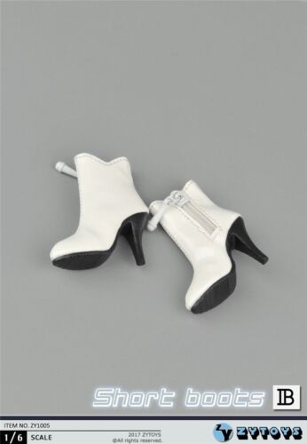 """1//6 Female Leather Ankle Boots B For 12/"""" PHICEN Hot Toys Figure SHIP FROM USA"""