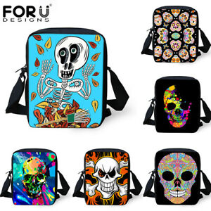 Details About Cool Skull Crossbody Messenger Bag Women Men Shoulder Purse Handbag Satchel New