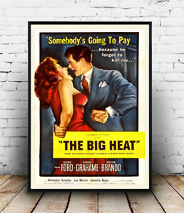 The-Big-Heat-Vintage-Movie-advert-Reproduction-poster-Wall-art
