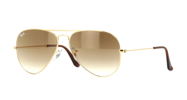 Ray-Ban Large Aviator Brown Gradient Lens Gold Frame Rb3025 001/51 ...