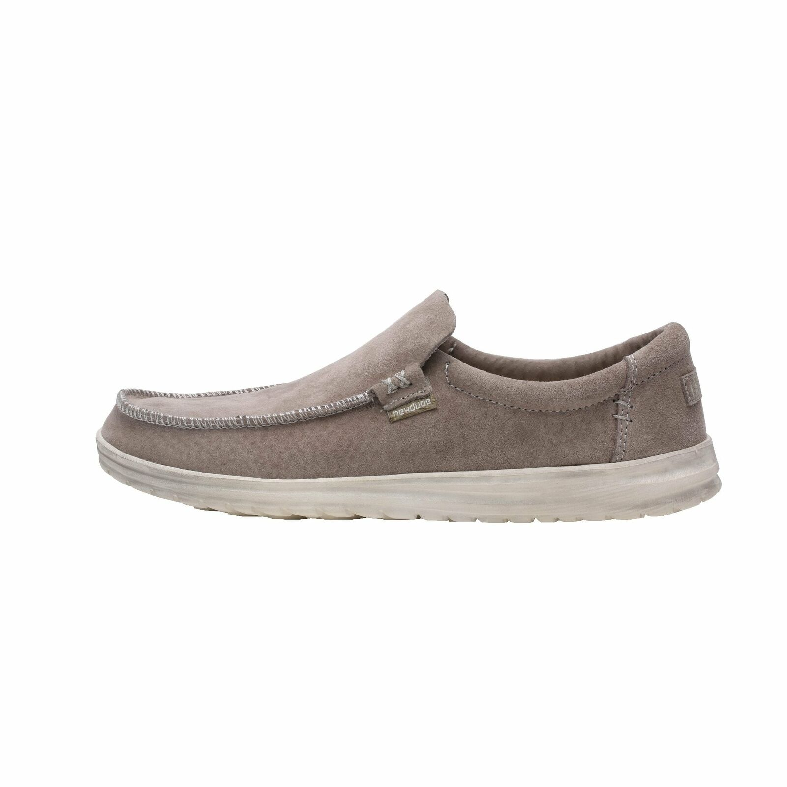 Hey Dude shoes Mens Mikka Suede Sterling Grey Slip On Loafers