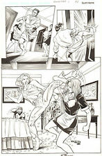 Rookstorm #1 p.66 - Chick fight - Signed original comic book art by Scott Hanna