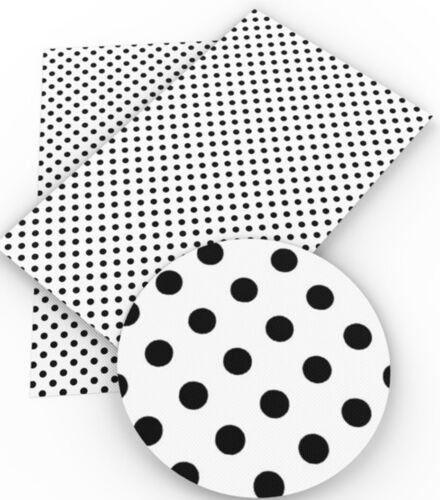 "Polka Dots  FAUX LEATHER SHEET 8.5/"" X 11.5/"" 22X30CM WHOLESALE PRINTED"