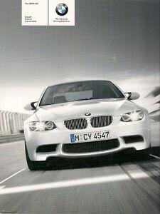 BMW M3 2008-09 UK Market Sales Brochure Saloon Coupe Convertible 3 ...