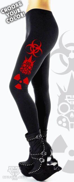 Cryoflesh Hardcore Fxxking Cyberpunk Goth Rave Industrial Leggings Pant S-XXL