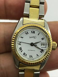 Jewelry & Watches Watches, Parts & Accessories Sensible Eberhard Automatic Cal.173-123 Gold&steel Lady 26mm Swiss Made.just Serviced High Safety