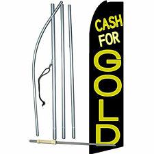 Cash For Gold Flag Flutter Feather Banner Swooper Advertising Bundle Complete