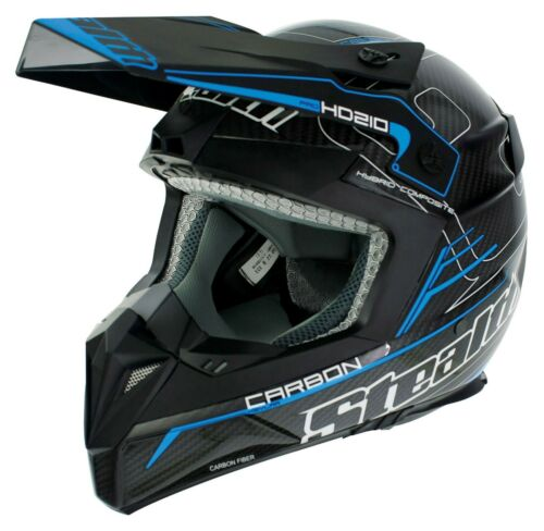 STEALTH MOTOCROSS HELMET FULL CARBON FIBRE MX ENDURO QUAD LID HD210 PRO CARBON