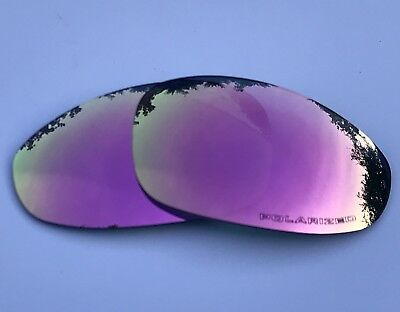 ENGRAVED POLARIZED ROSE PINK CUSTOM MIRRORED REPLACEMENT OAKLEY JULIET LENSES