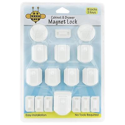 Honey Pie NEW Magnetic Cabinet Lock and Drawer Lock Cabinets 8 Locks, 2 Keys
