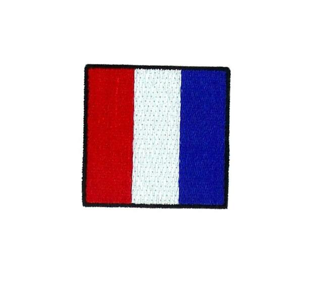 Flag patch embroidered international maritime nautical navy signal T tango