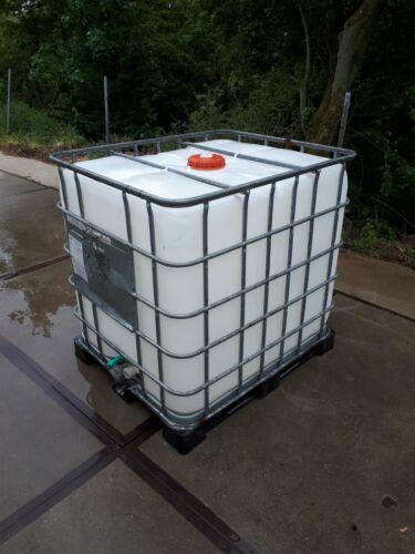1000l IBC Wassertank Container Regenwassertank Tank GESPÜLT auf kunstof palette