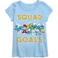 Smurfs Girl Short Sleeve Girls T-shirt Size Xs 4-5