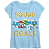 Smurfs Girl Short Sleeve Girls T-shirt Size Xs 4-5