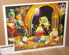 Carl Barks Kunstdruck: Time out for Therapy - Scrooge McDuck Money Bin Art Print